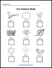Free Printable Nature Walk Checklist for science in #preschool and #kindergarten