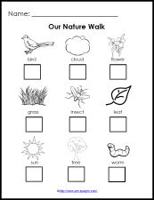 Free Printable Nature Walk Checklist for science in #preschool and #kindergarten