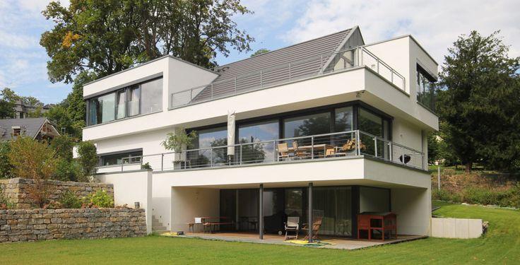 Bauhaus mit Satteldach Haus Ideen Pinterest Villas, Modern - minecraft küche bauen
