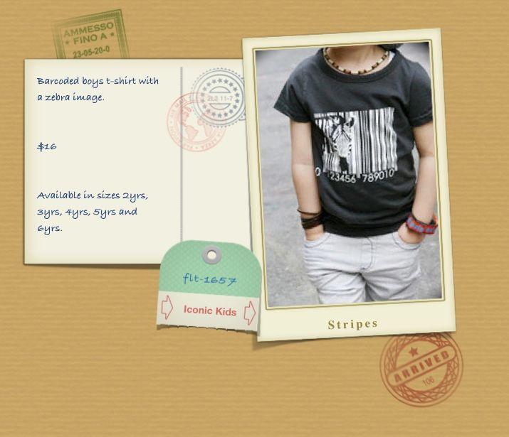 black barcode t-shirt