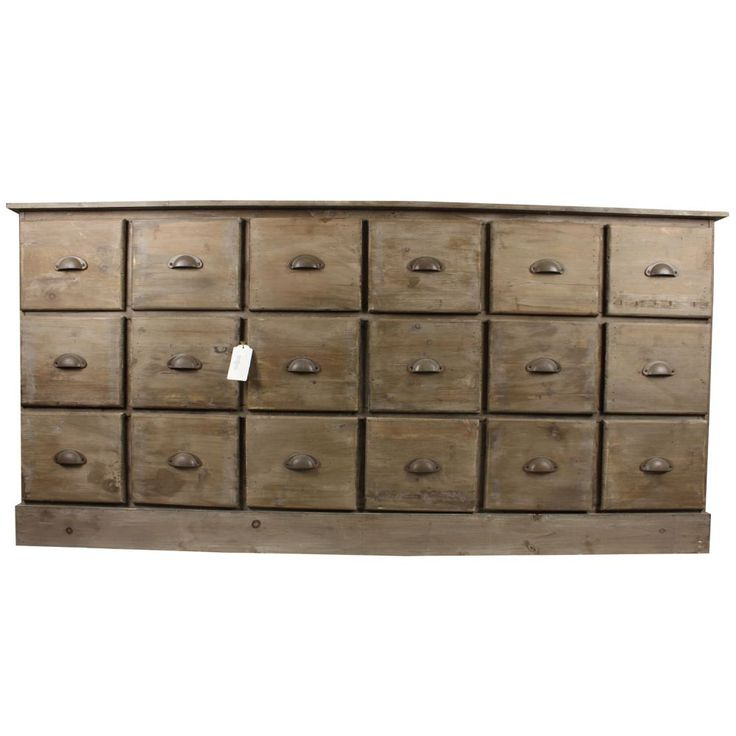 Meuble semainier chiffonnier grainetier bois 18 tiroirs for Grainetier meuble