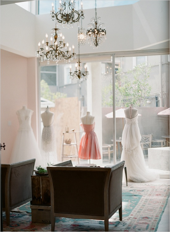 lovely bridal shop los angeles photo by http://www.kissthegroom.com