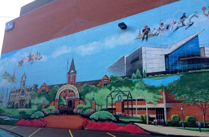University of findlay wall mural summer 2014 located on a for 6 blocks from downtown mural