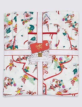 Pure Cotton Pyjamas (1-16 Years)   M&S