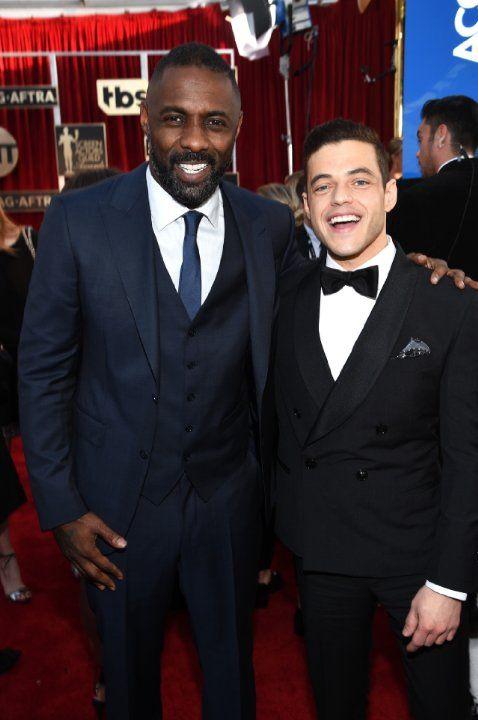 Idris Elba and Rami Malek - 2016 SAG Awards
