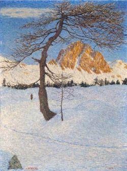 Gottardo Segantini (Swiss, 1882-1974), Piz Lagrev mattino d'inverno,1928.