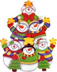 Resultado de imagen para dibujos de muñeco de nieve a color