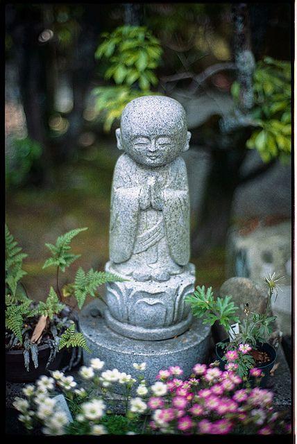 Jizo statue of Gohyaku Rakan-ji temple, Hyogo, Japan ...