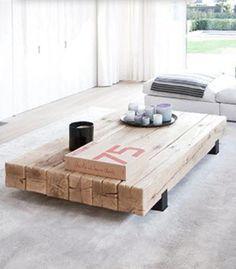 salontafel Beam van Rossum, 140cm x 100cm, qua hout mooi passend bij Woud eetkamertafel van Rossum