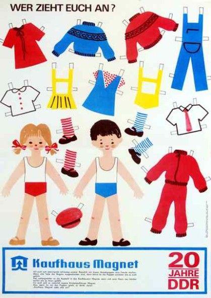Anziehpuppen mit Kleidung Die Puppe und die Sachen wurden ausgeschnitten. Die Kleidung hatte rechts und links eine Kante zum umknicken und so konnte man die Puppen damit an und ausziehen.