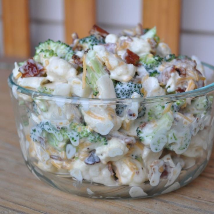 Amish Broccoli Cauliflower Salad  Going to try this with and without the sugar.