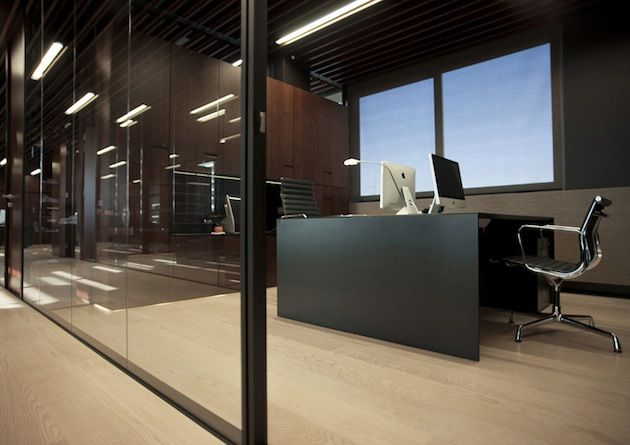 Contemporary law office sleek and sophisticated law for Interior design law office
