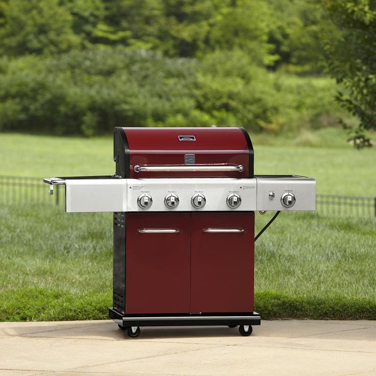 Kenmore 4burner lp red gas grill w searing burner side