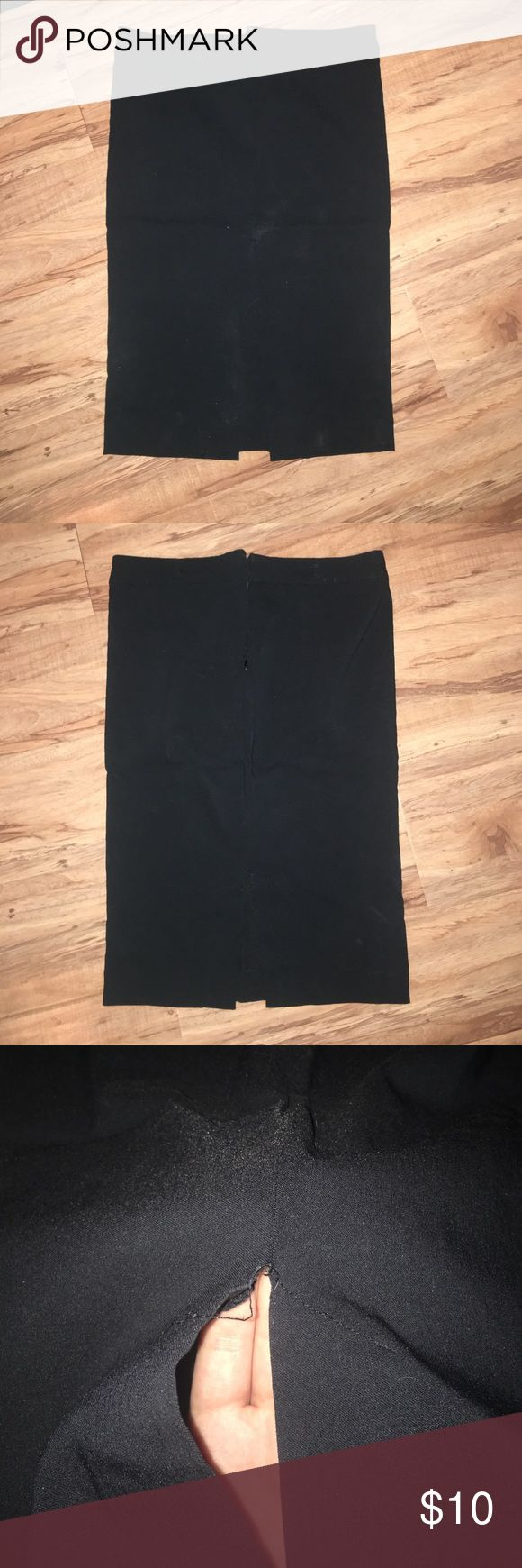 Pencil skirt Black pencil skirt, good condition just too small for me. The slit in the back is frayed a little but great condition otherwise. Skirts Pencil