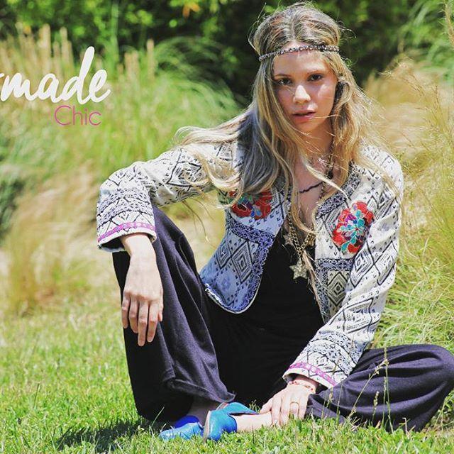 Chaqueta full lino #embroidery #boho #style #tendences #freedom