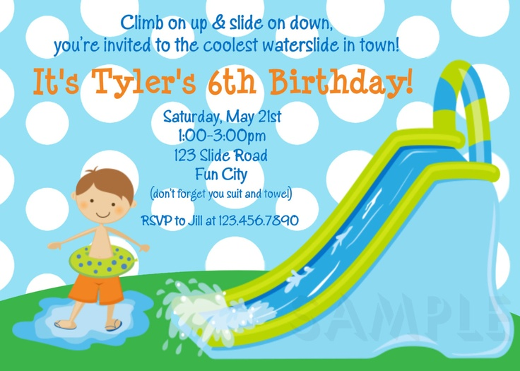 40 best Pool Party images on Pinterest Pool parties, Swimming pool - birthday invitation swimming party
