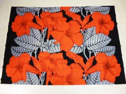 "Pirta ""Akileija"" Made in Finland by Tampella 70's Vintage Floral Fabric | eBay"