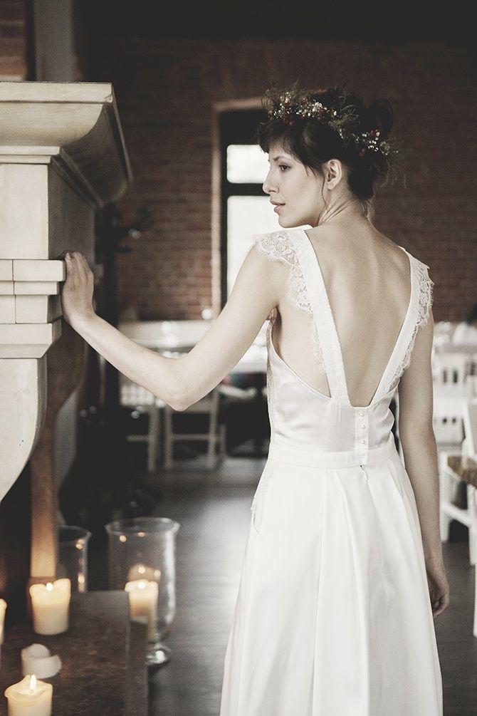 d6d7121b7c Romantyczna suknia ślubna. Bufiaste rękawki