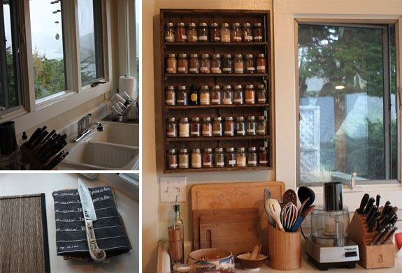 spice shelves easy access & can easily see what we need more of