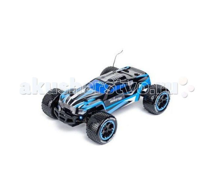 Silverlit Машина Ралли Монстр на радиоуправлении 1:14  Silverlit Машина Ралли Монстр на радиоуправлении 1:14 способна развить скорость до 15 км/ч.   Особенности: Машина имеет большие колеса с рельефными шинами, что обеспечивает прочное сцепление с поверхностью дороги.  Обтекаемой формы корпус разрисован стильными контрастными полосами синего цвета.  Ребенок может управлять быстрым автомобилем на расстоянии до 20 метров, устраивая скоростные гонки с друзьями. Тип батареек: 2 х AA / LR6 1.5V…