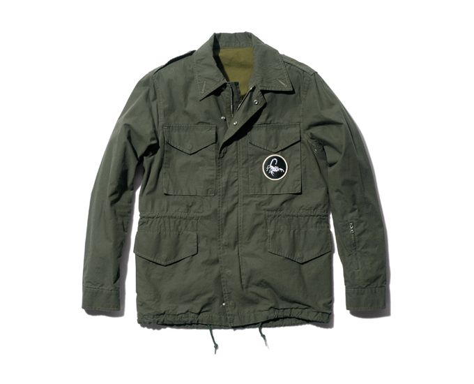 SOPHNET. COTTON BROAD MILITARY CLOTH FIELD JACKET