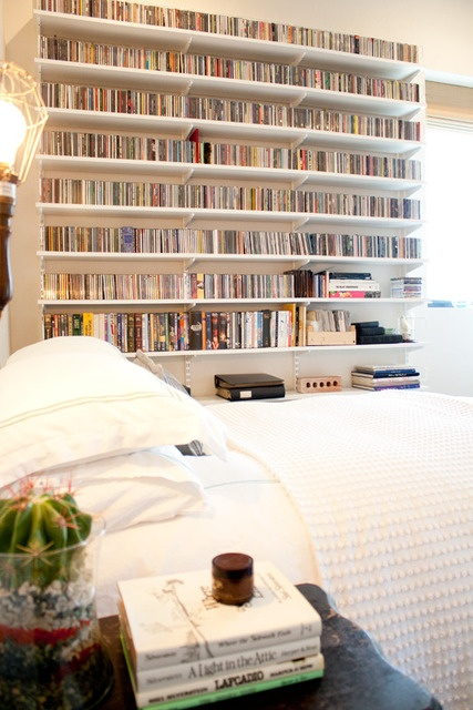 .Libraries, Dreams Bedrooms, House Tours, Bookshelves, Book Shelves For Bedrooms, Beds, Dvd Storage, Media Storage, Bedrooms Shelves