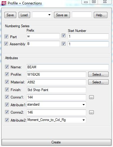 Model a profile and add connections with one dialog box.