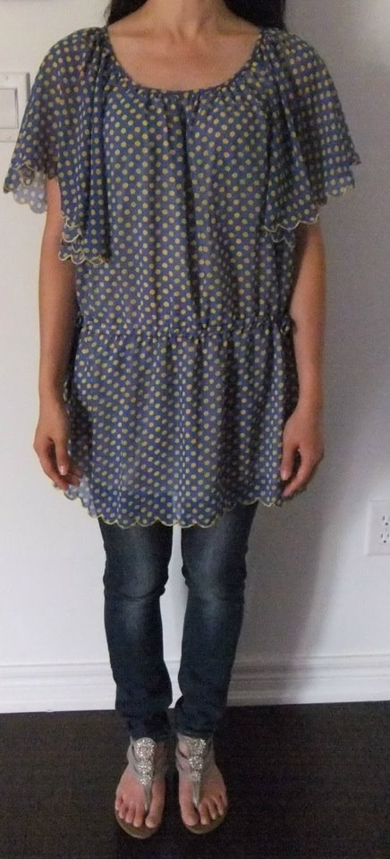 Same As: Lovely Chiffon Blouse-Blue.  (Made In Korea).