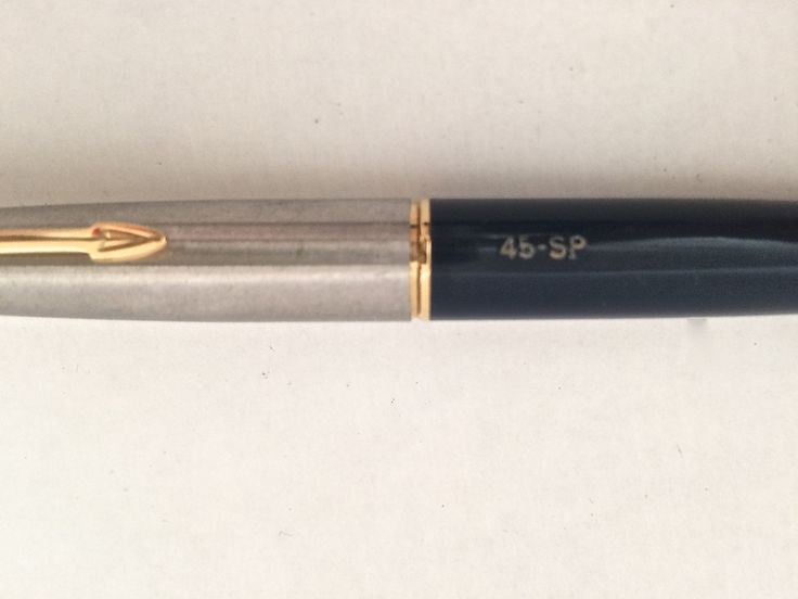 Vintage PARKER 45 Fountain Pen, 1960s, Blue Silver Gold, 45 SP, M, Collectible Fountain Pen, Parker Collectible Fountain Pen, Made in USA by EclecticaGallery on Etsy