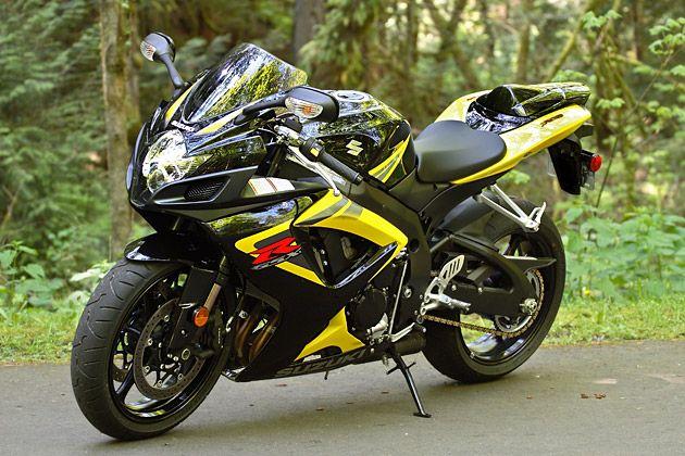 Yellow gsxr 750