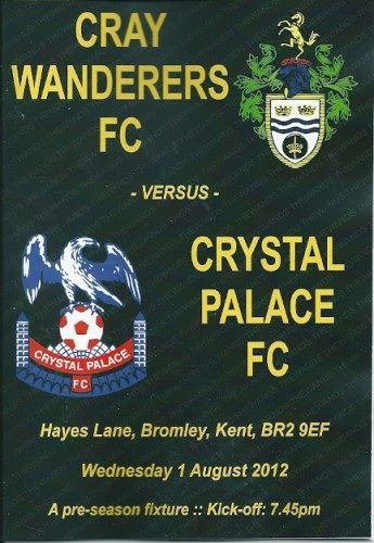 Cray Wanderers - Friendly