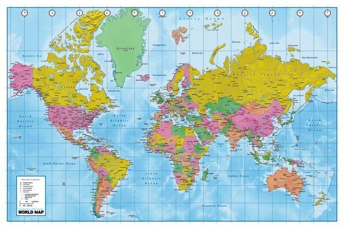 Full Map Of The World.Full Page Printable World Map Kids Parties World Map