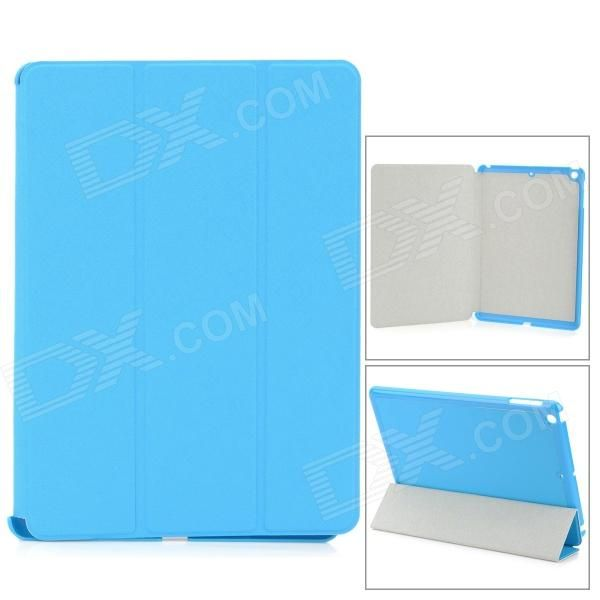 Three Section Folding PU Leather Case for Ipad AIR - Sky Blue