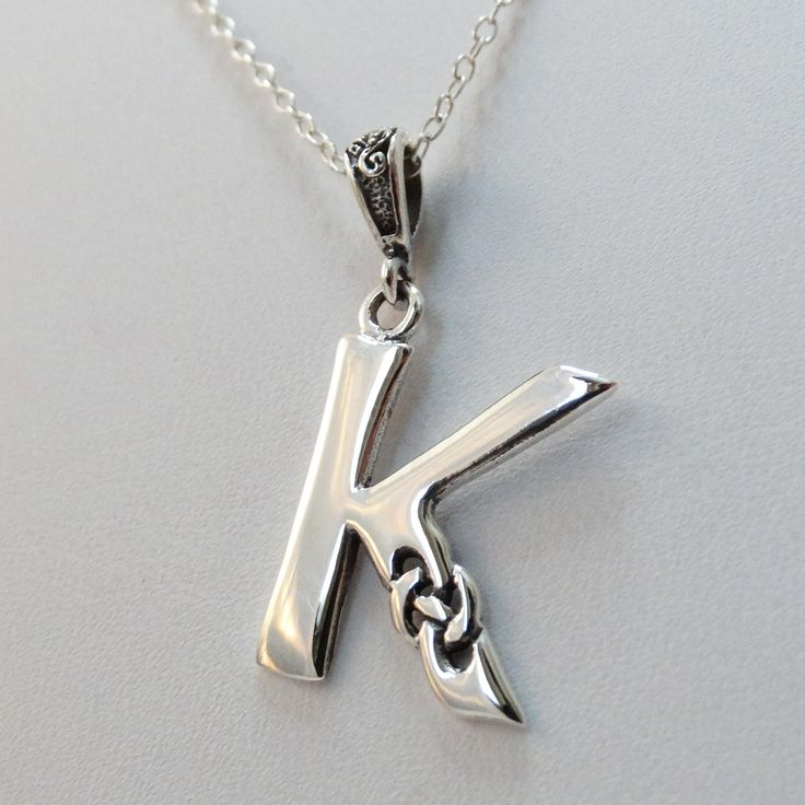 FashionJunkie4Life - Sterling Silver Celtic Initial Letter k Necklace, $18.00 (http://www.fashionjunkie4life.com/sterling-silver-celtic-initial-letter-k-necklace/) Use coupon code PIN10 for 10% off your entire purchase and free shipping worldwide.
