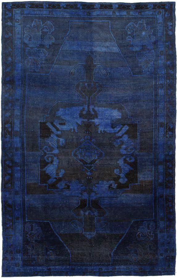 navy overdyed rug