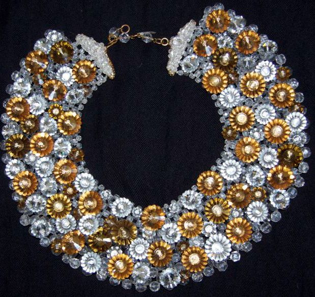 Coppola e Toppo - Bijoux Vintage - Collier 'Fleurs'