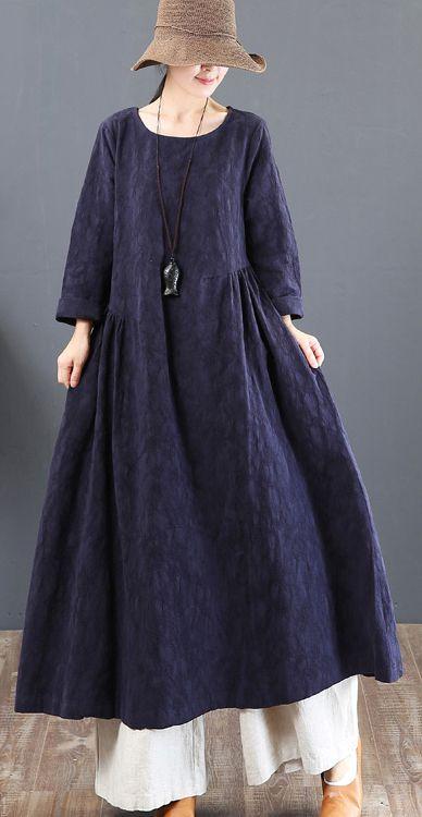57d38932830 2018-navy-linen-dresses-casual-jacquard-fall-dresses-vintage-tunic-big-hem -caftans3