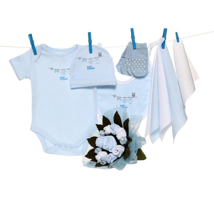 Küçük Bebek Buketi - mavi 3-6 months / ay :: KALİTEDE UYGUN FİYAT