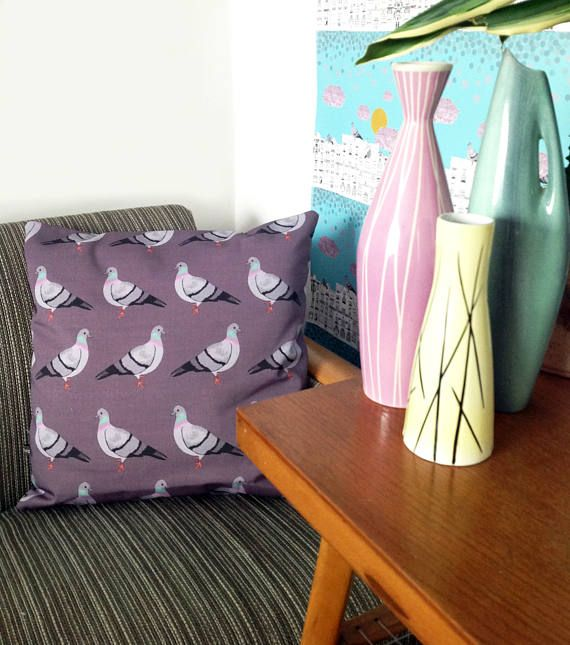 Handmade Pigeon cushion cover