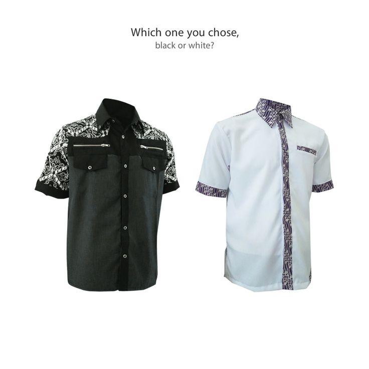 Which one you choose Youngster? Black or White Shirt? #kemejabatikmedogh http://medogh.com/baju-batik-pria/kemeja-batik-pria