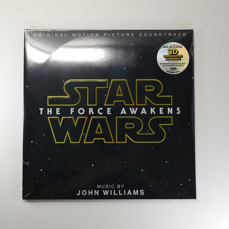 Star Wars: The Force Awakens OST Vinyl [3D Holographic 2LP, 180g] John Williams #FilmScoreSoundtrack