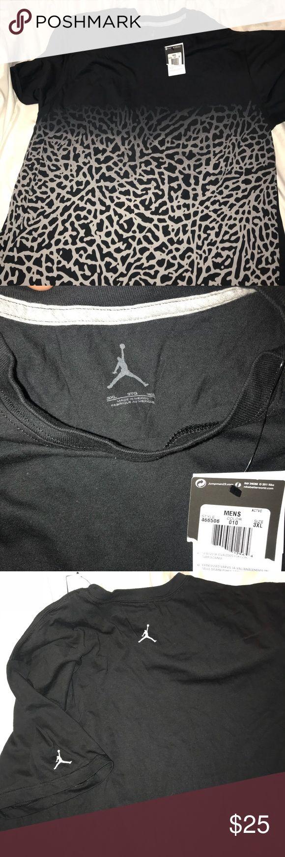 NWT Rare Jordan cheetah print black shirt New with tags.  Jordan logo on back by color and on left sleeve.   Comes from a smoke/pet free home Air Jordan Shirts Tees - Short Sleeve