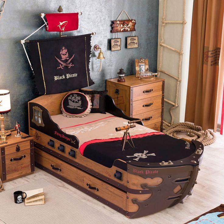 pirate 6 pcs boys bedroom set nautical pirate room