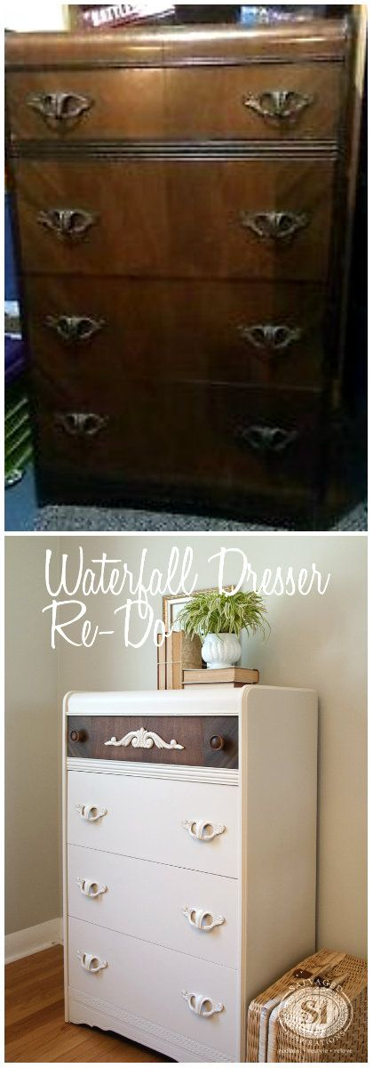 Waterfall Dresser - Before & After: