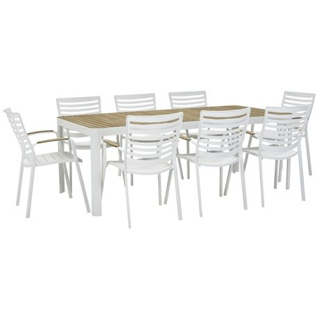 Adelphi 9 Piece Dining Package  White