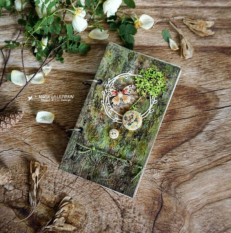 Handmade eco style notebook by Maria Lillepruun