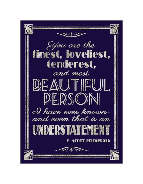 The famous F. Scott Fitzgerald quote