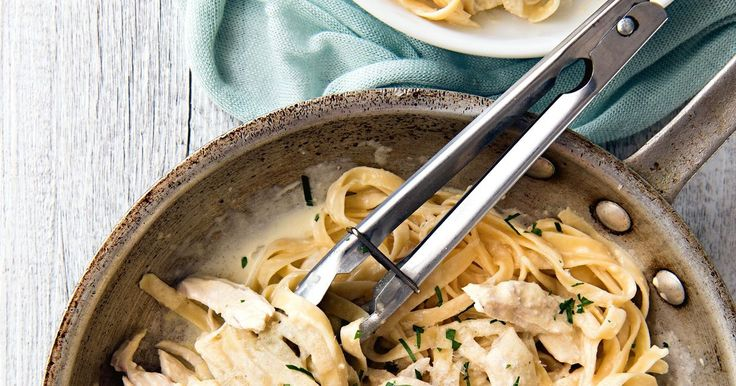 It's still creamy and buttery, but this 15-minute chicken alfredo is so much better for you. Plus, the kids will love it!