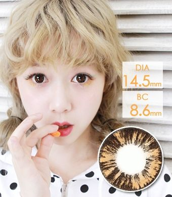 【1年カラコン】   New Cara Brown 14.5mm /640