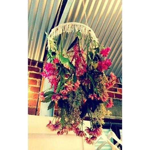 Flower Chandelier made by me :-) #flowerchandelier #DIY #TTWD #Throughthewhitedoor